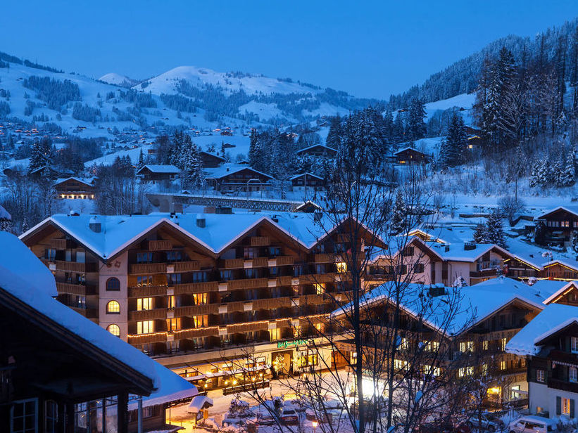 Hotel Bernerhof Gstaad in winter